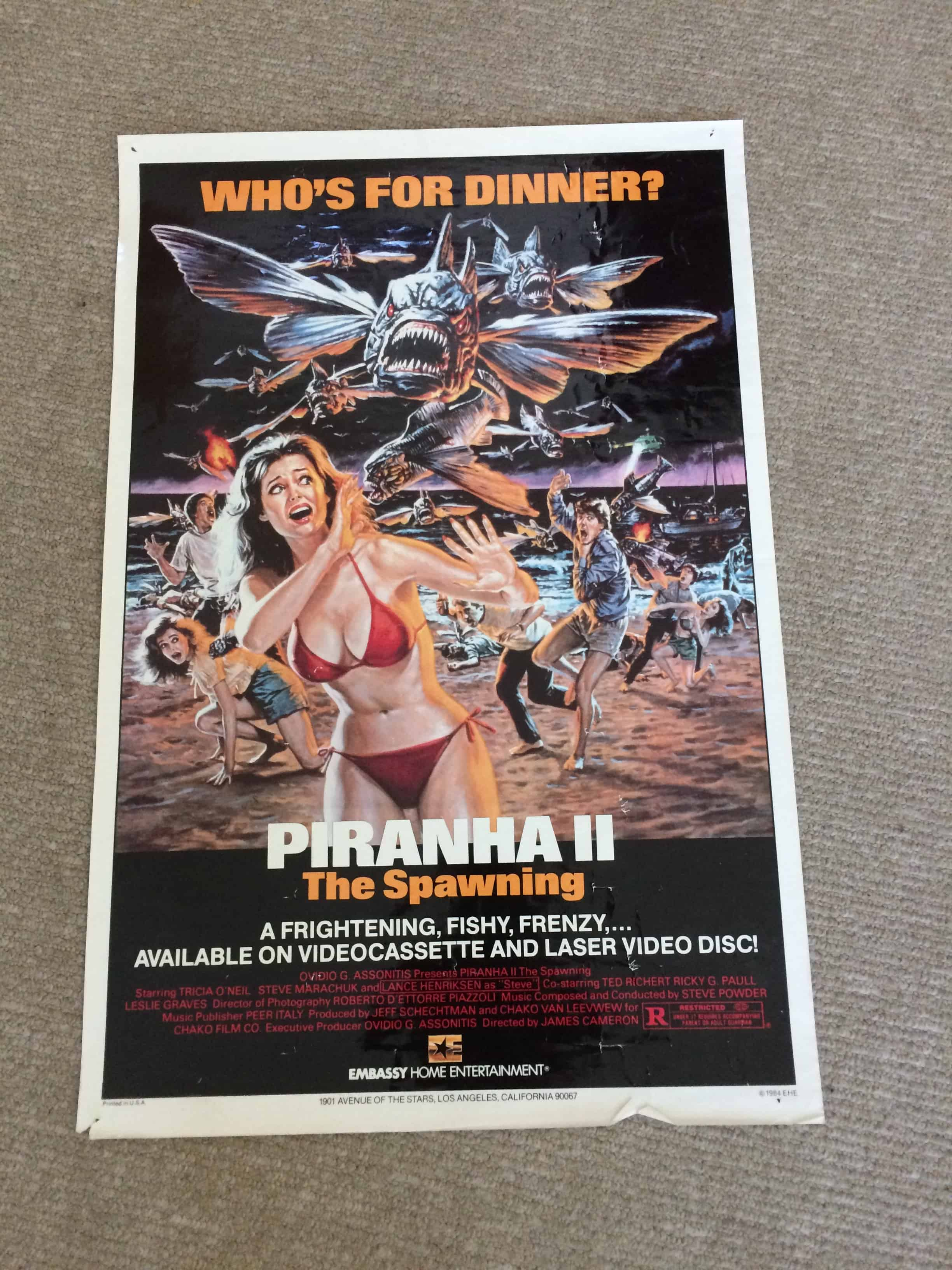 MOVIE POSTERS WE LOVE: PIRANHA II