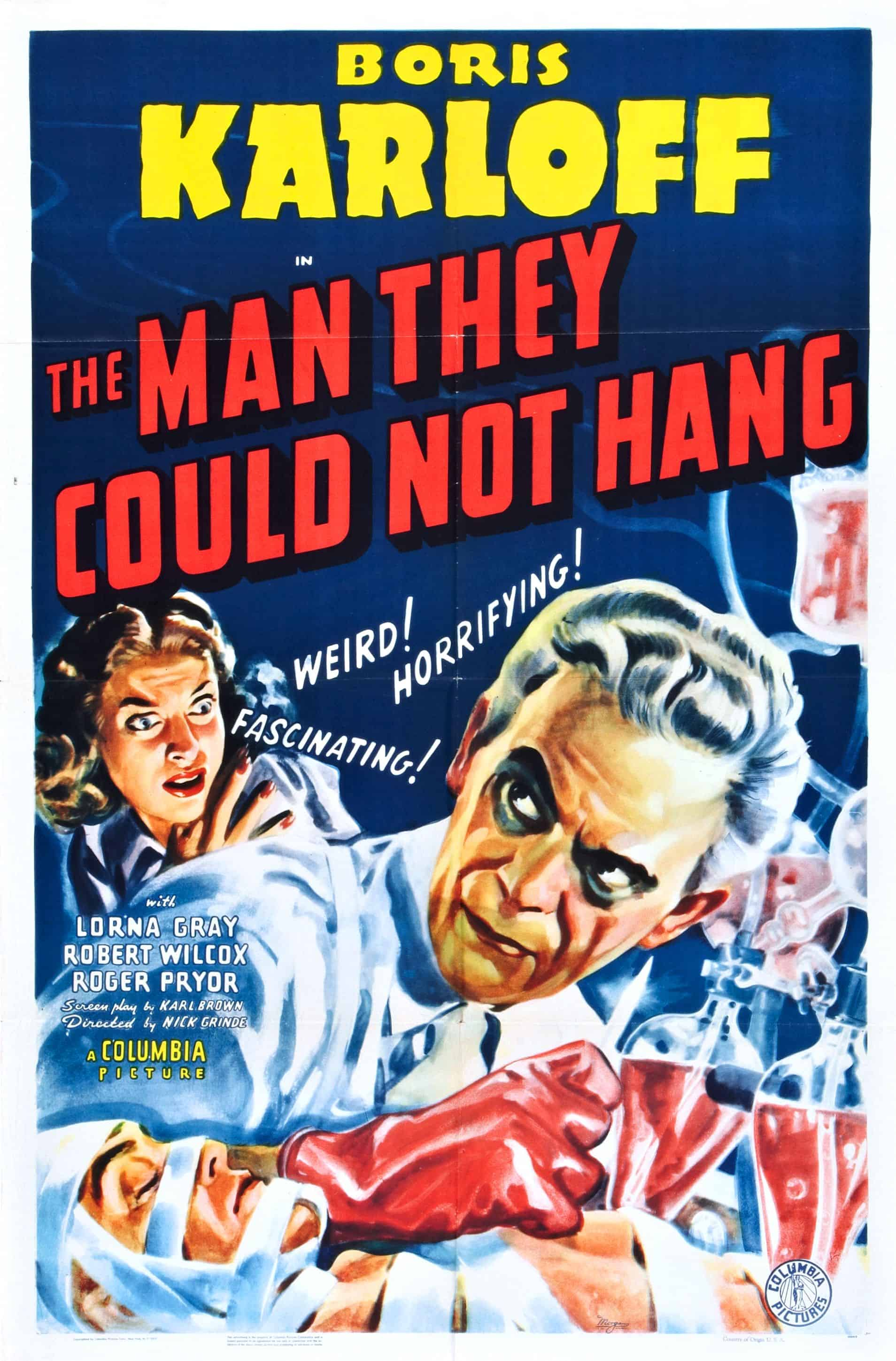 Movie Posters We Love: The Man They Could Not Hang (1939)