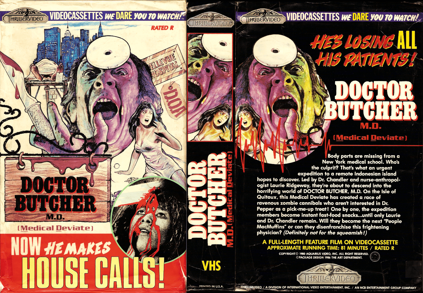 Mike's Review: Dr. Butcher, M.D./Zombie Holocaust/Island of the Last Zombies/Zombi 3/Queen of the Cannibals (1982)