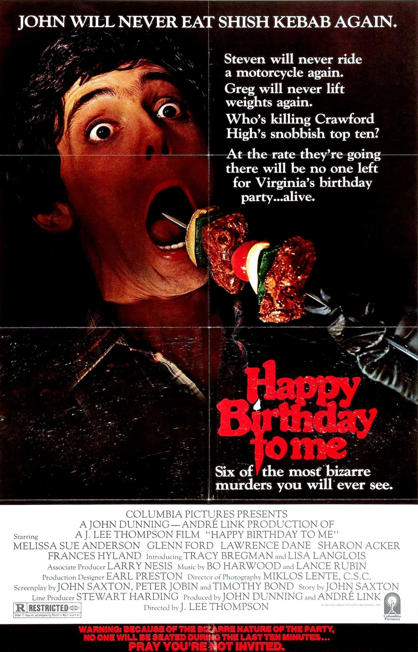 Movie Posters We Love: Happy Birthday to me (1981)