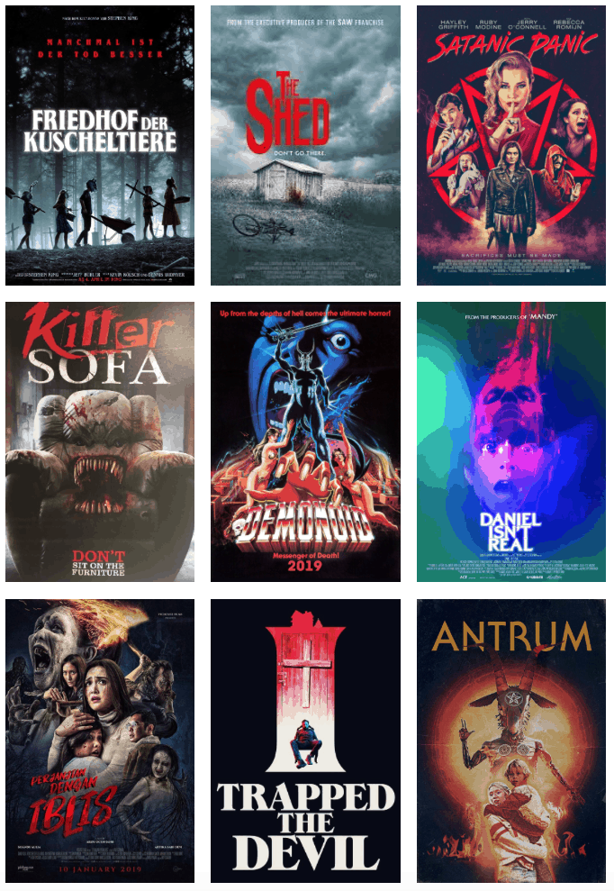 Movie Posters We Love: Top 10 Horror Posters from 2019