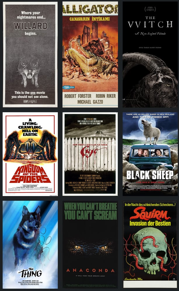 Dead List: Top 10 Animal Horror Films