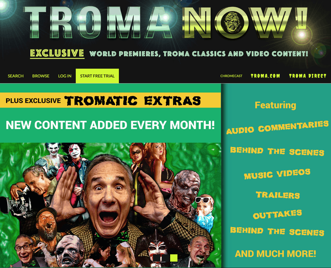 Movie News: Troma's Streaming Service